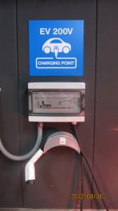 駐車場に設置されたSIEMENS製充電器